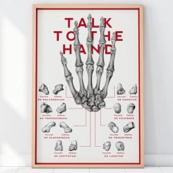 Plakat Kości Reki oraz Nadgarstka